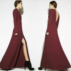 REFORMATION Red Muse Maxi Dress in Velvet Berry